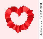 unusual creative heart on a... | Shutterstock .eps vector #1913113300