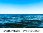 Small Sea Waves Against The...
