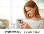 image of young female using... | Shutterstock . vector #191314160
