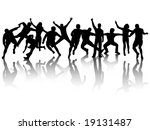 illustration of people in action | Shutterstock .eps vector #19131487