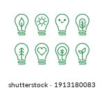 eco friendly lightbulb icon set.... | Shutterstock .eps vector #1913180083