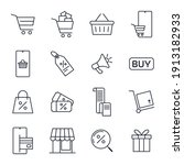 set of shopping and market icon.... | Shutterstock .eps vector #1913182933