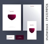 set of elegant design templates ... | Shutterstock .eps vector #1913198926