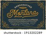 a vintage script font. this... | Shutterstock .eps vector #1913202289