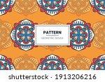 seamless ornamental mandala... | Shutterstock .eps vector #1913206216
