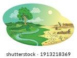climate change desertification... | Shutterstock .eps vector #1913218369