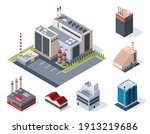 factory isometric. concept of... | Shutterstock .eps vector #1913219686