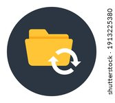 editable flat rounded icon of... | Shutterstock .eps vector #1913225380