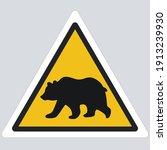 Icon Danger Bear Sign. Image...