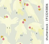 cute minimalistic pattern with... | Shutterstock .eps vector #1913243806