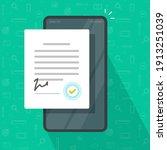 mobile agreement or signed... | Shutterstock .eps vector #1913251039