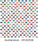 world flags isolated on white | Shutterstock . vector #19132528