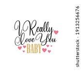 valentine day love   be my... | Shutterstock .eps vector #1913256676