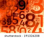 red random number math background texture illustration - stock photo