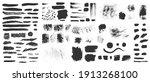hand drawn ink design elements. ... | Shutterstock . vector #1913268100