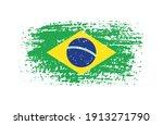 vector grunge flag of brazil. | Shutterstock .eps vector #1913271790