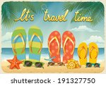 vector summer background with... | Shutterstock .eps vector #191327750