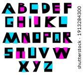 vector alphabet set of big ... | Shutterstock .eps vector #1913284300