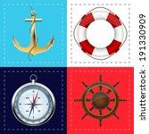 sea symbols   Shutterstock .eps vector #191330909