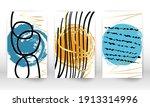 set of geometric shapes.... | Shutterstock .eps vector #1913314996