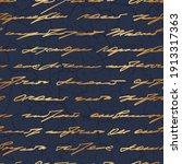 handwriting gold seamless...   Shutterstock .eps vector #1913317363