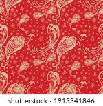oriental vector damask pattern. ... | Shutterstock .eps vector #1913341846