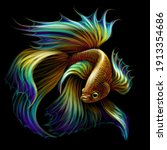 tropical fish. color graphic... | Shutterstock .eps vector #1913354686