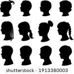 kids silhouettes set.... | Shutterstock .eps vector #1913380003