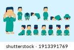 tutorial salah pray for boy or... | Shutterstock .eps vector #1913391769
