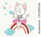 vector illustration of a cute...   Shutterstock .eps vector #1913399236