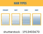 straight  wavy  curly hair... | Shutterstock .eps vector #1913403670