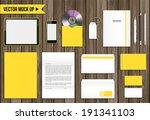 vector corporate identity mock... | Shutterstock .eps vector #191341103