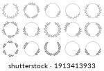 set of black laurels frames... | Shutterstock .eps vector #1913413933