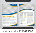 two sided flyer template wave... | Shutterstock .eps vector #1913425006