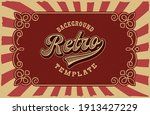 vector retro background  all... | Shutterstock .eps vector #1913427229