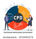 flat design with people. cpd  ... | Shutterstock .eps vector #1913453173
