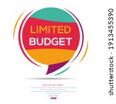creative  limited budget  text... | Shutterstock .eps vector #1913455390
