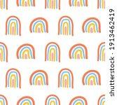 scandinavian seamless pattern... | Shutterstock .eps vector #1913462419