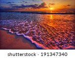 Magnificently Colorful Beach...