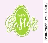 happy easter sticker.... | Shutterstock .eps vector #1913474383