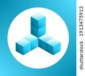 design element. blue gradient... | Shutterstock .eps vector #1913475913