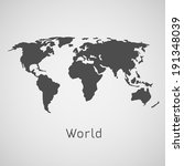 world map vector illustration | Shutterstock .eps vector #191348039