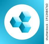shape made of cubical blocks.... | Shutterstock .eps vector #1913484760