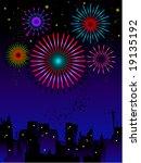 fireworks   vector | Shutterstock .eps vector #19135192