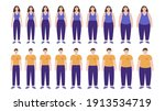 body mass index concept. woman...   Shutterstock .eps vector #1913534719