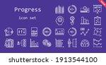 progress icon set. line icon...