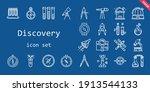discovery icon set. line icon...