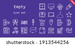 empty icon set. line icon style....