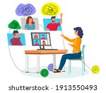 online psychological help and... | Shutterstock .eps vector #1913550493