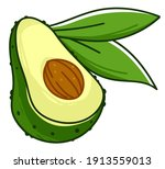 exotic vegetable with peel ... | Shutterstock .eps vector #1913559013